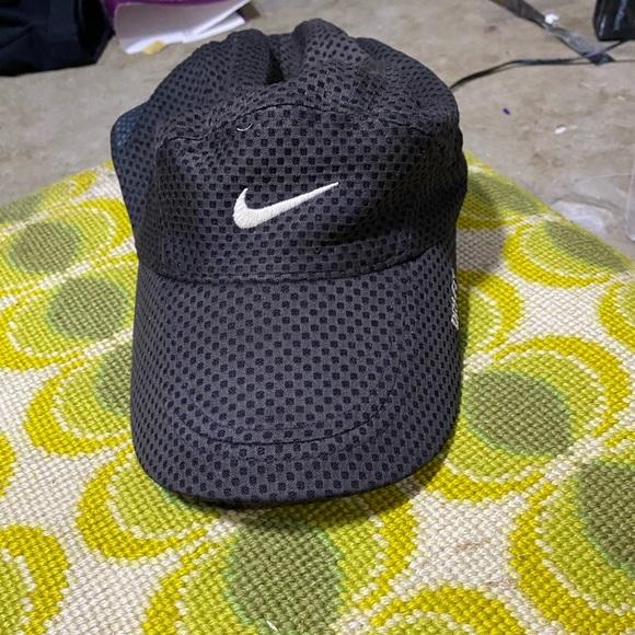 Vintage 90s 00s Nike running hat black